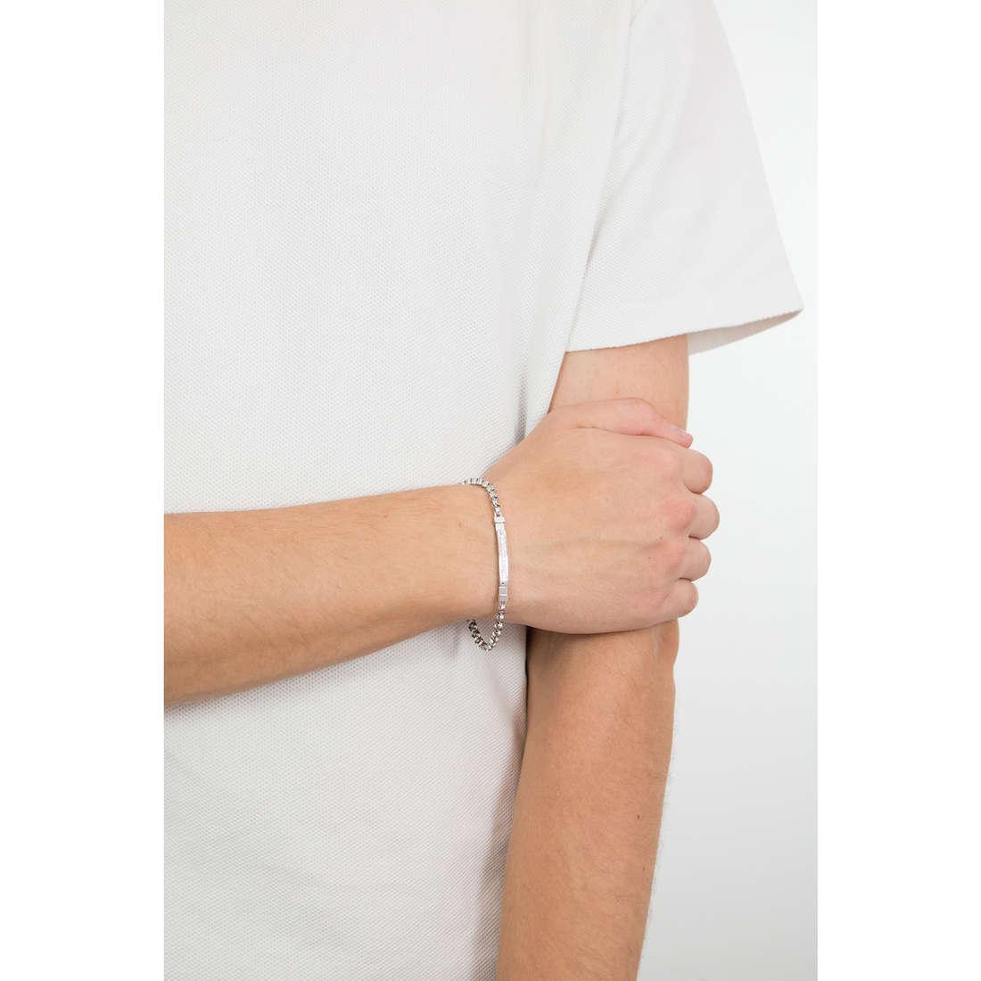 Luca Barra bracciali uomo LBBA626 indosso