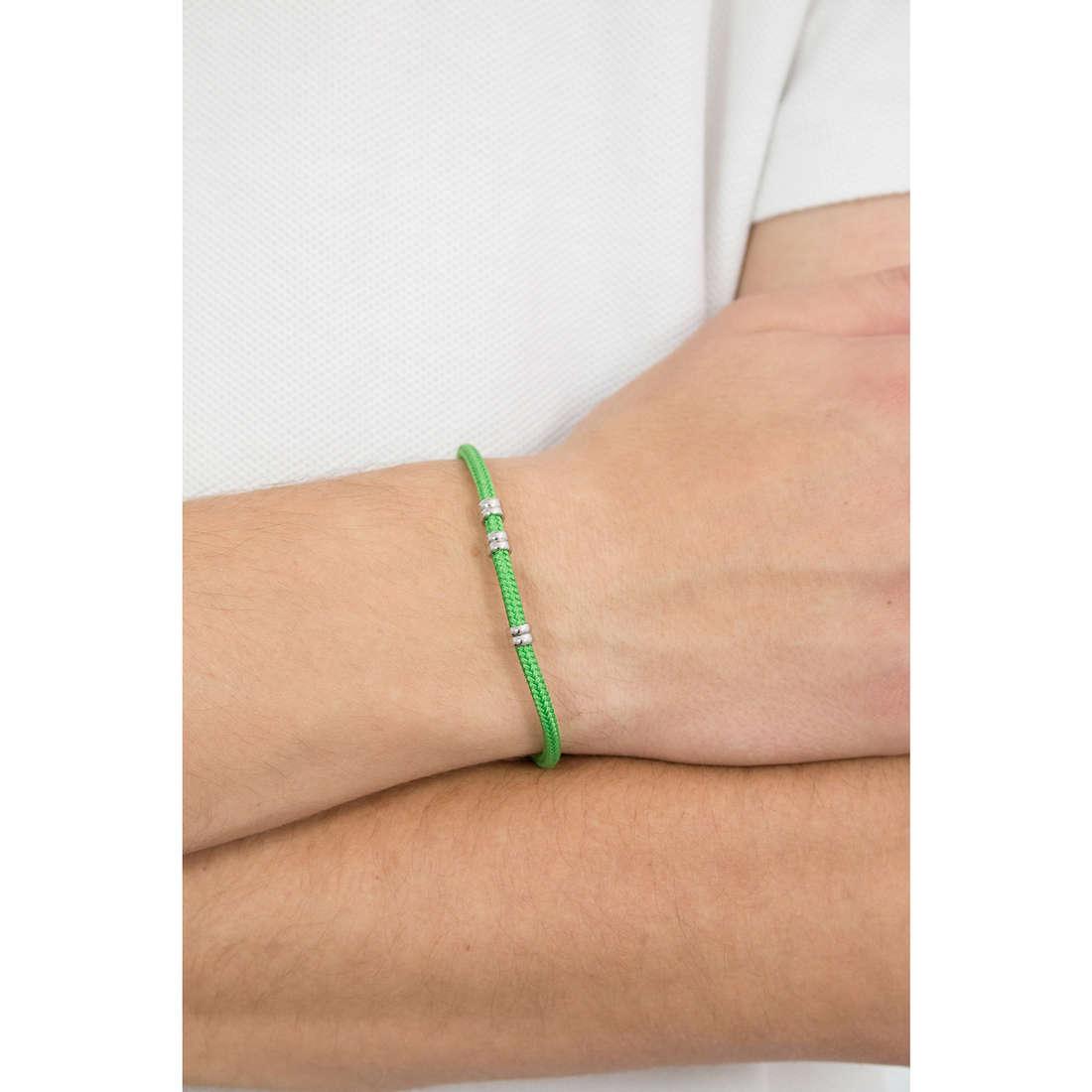 Luca Barra bracciali uomo LBBA696 indosso