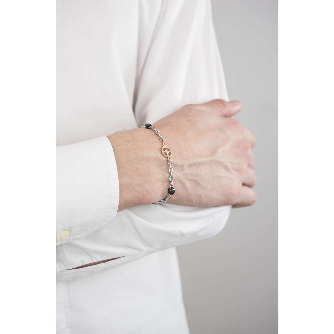 Luca Barra bracciali uomo LBBA707 indosso