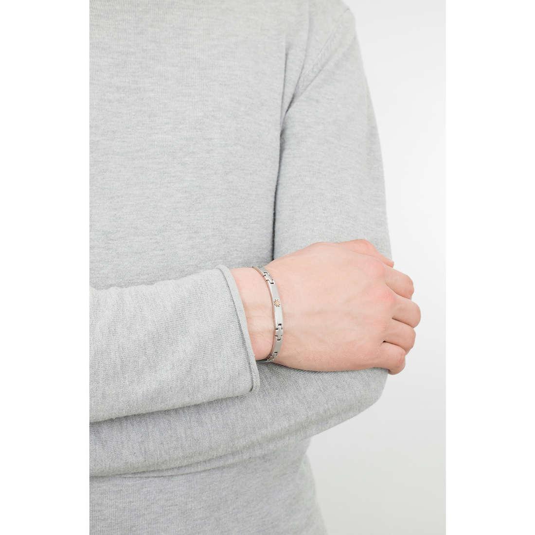 Luca Barra bracciali uomo LBBA717 indosso