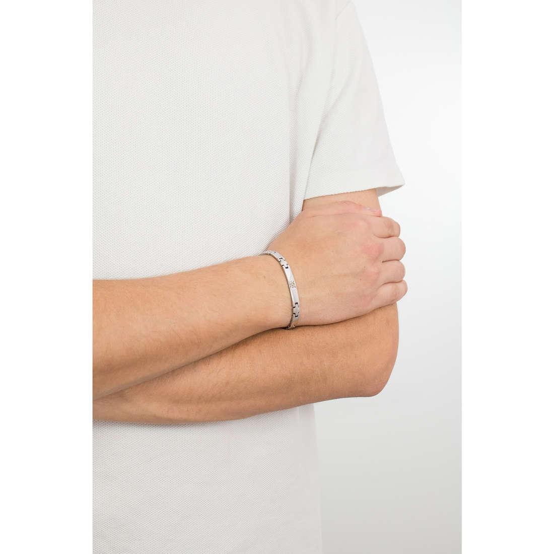Luca Barra bracciali uomo LBBA719 indosso