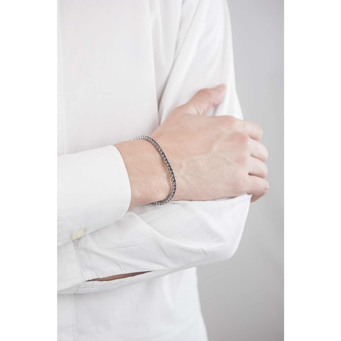 Luca Barra bracciali uomo LBBA738 indosso