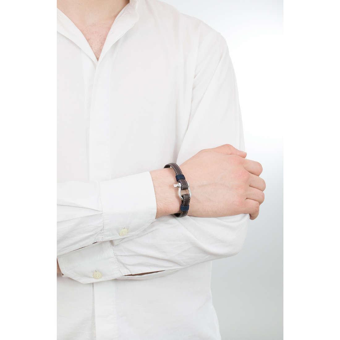 Luca Barra bracciali Sailor uomo LBBA819 indosso