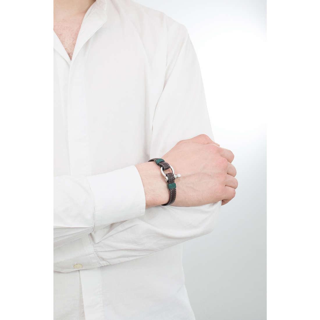 Luca Barra bracciali Sailor uomo LBBA822 indosso