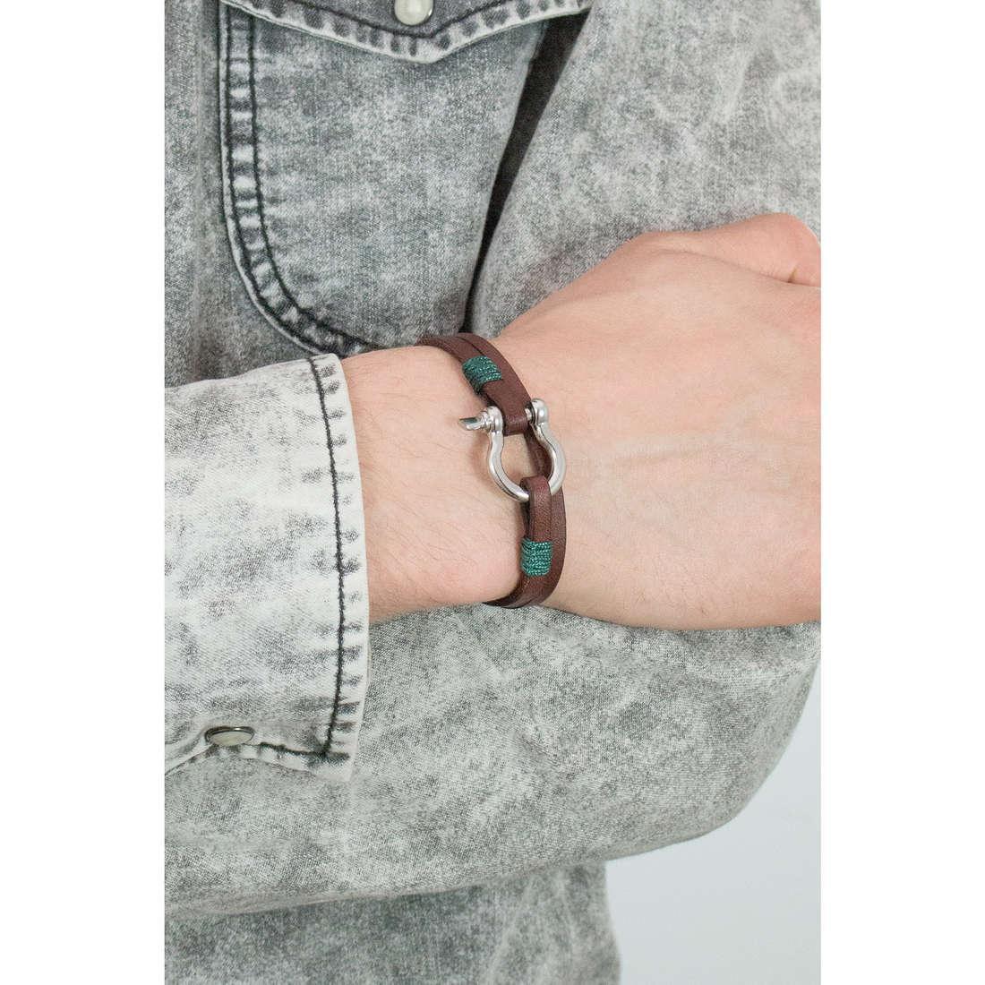 Luca Barra bracciali Sailor uomo LBBA826 indosso