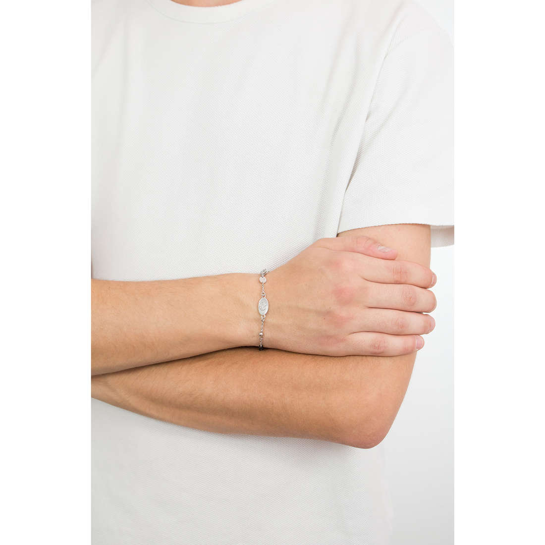 Luca Barra bracciali Religion Soul uomo LBBA795 indosso