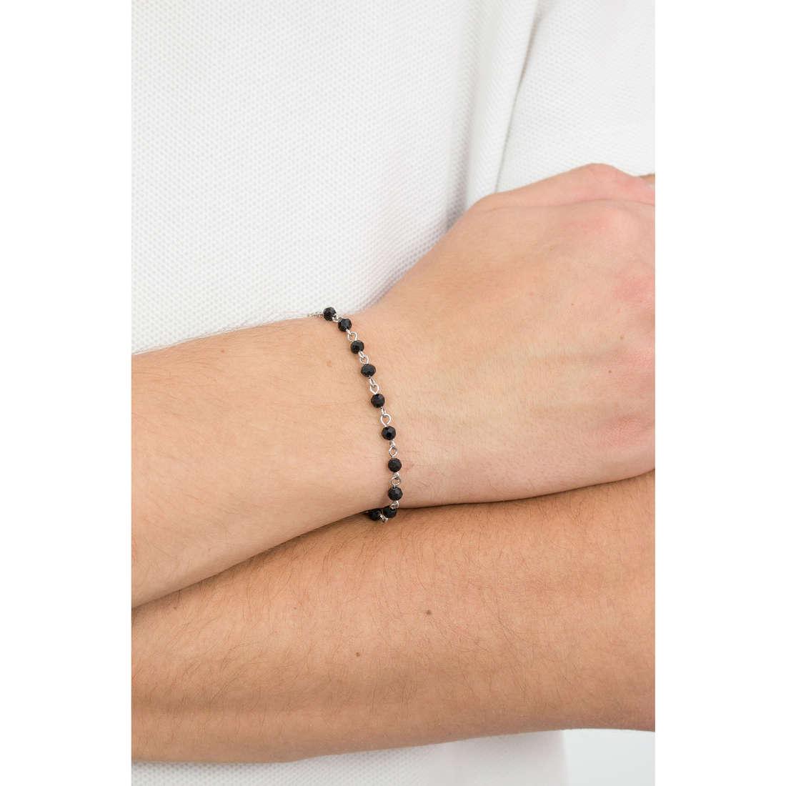 Luca Barra bracciali Religion Soul uomo LBBA796 indosso