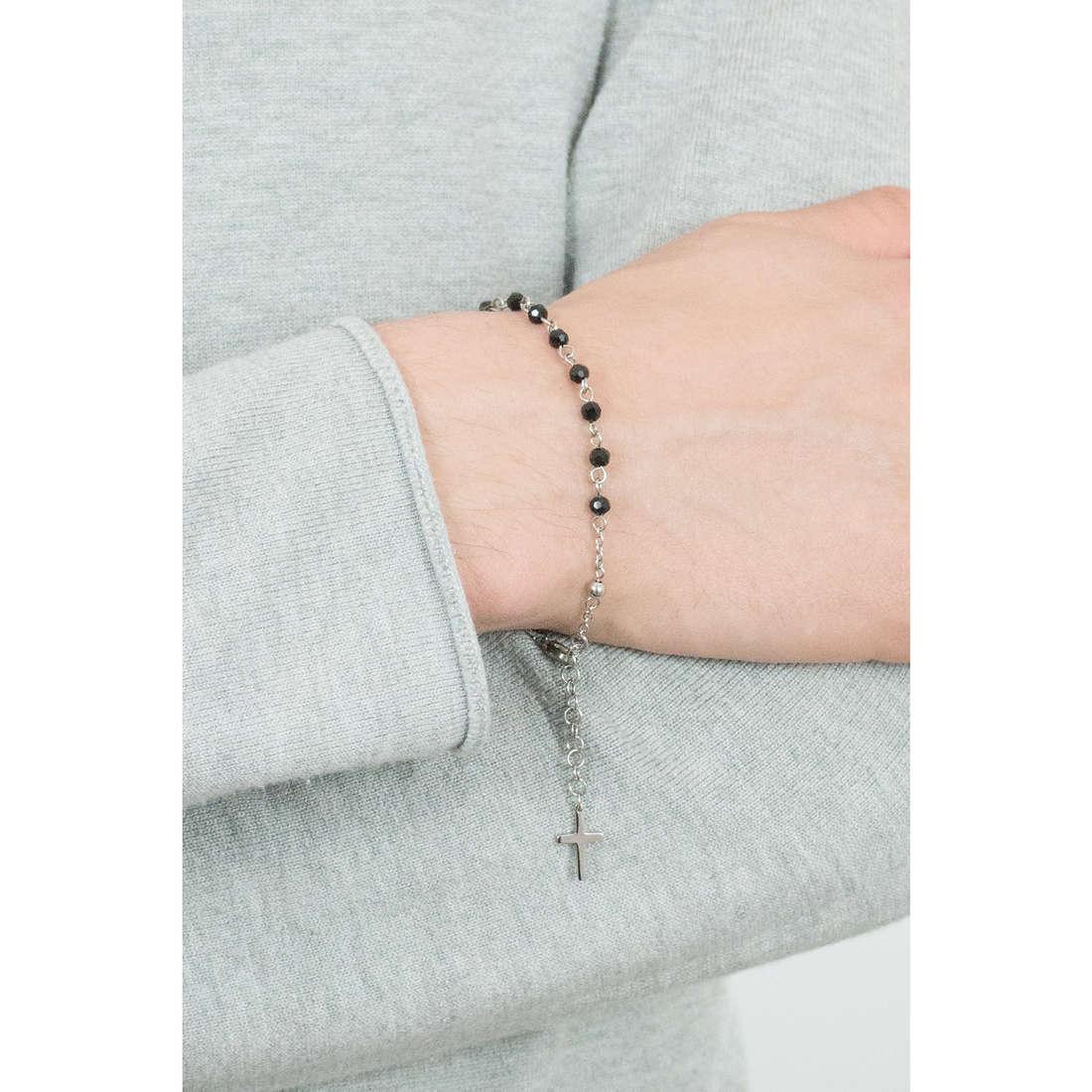 Luca Barra bracciali Religion Soul uomo LBBA797 indosso