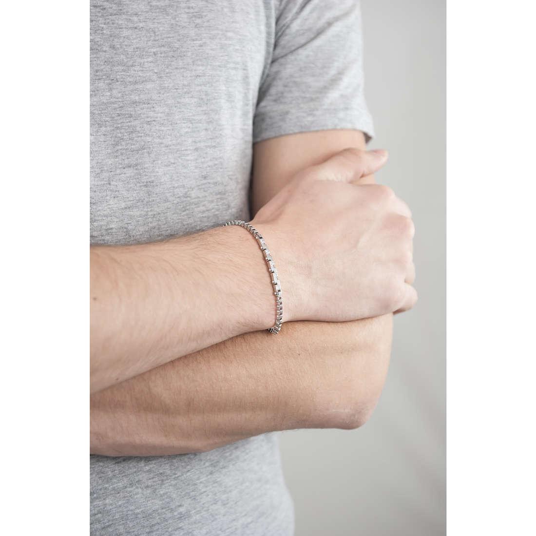 Morellato bracciali Alfa uomo SAEV09 indosso