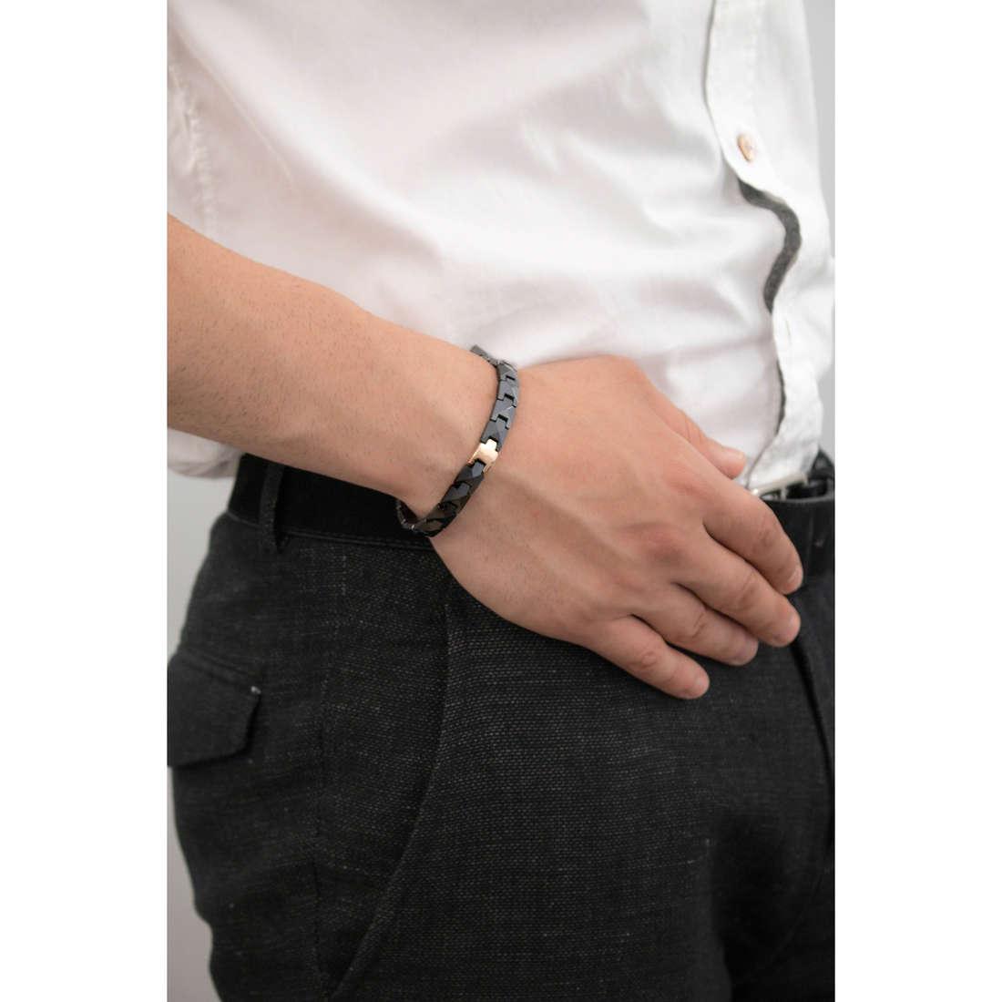 Morellato bracciali Boules uomo SACU03 indosso