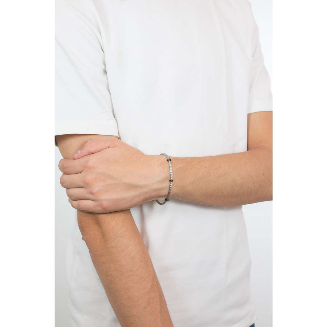 Morellato bracciali Cross uomo SAHU08 indosso