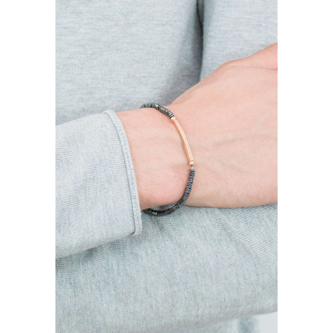 Morellato bracciali Ematite uomo SAHT02 indosso