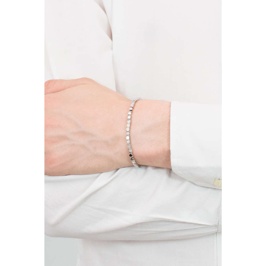 Morellato bracciali Ematite uomo SAHT04 indosso