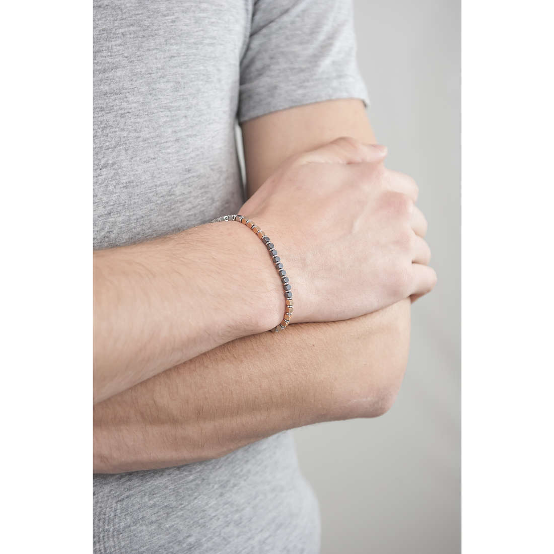 Morellato bracciali Ematite uomo SAHT05 indosso