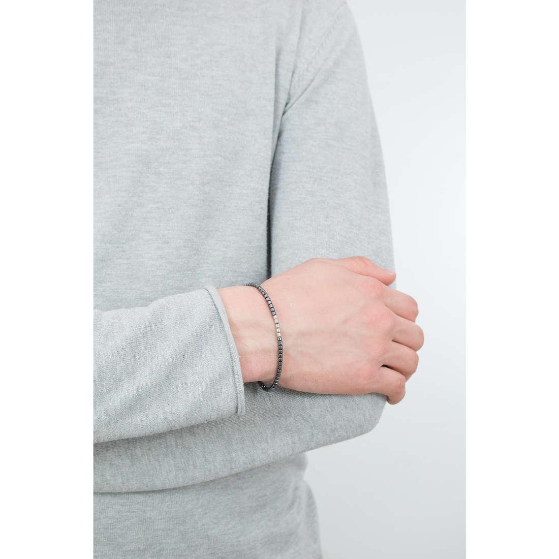 Morellato bracciali Ematite uomo SAHT09 indosso