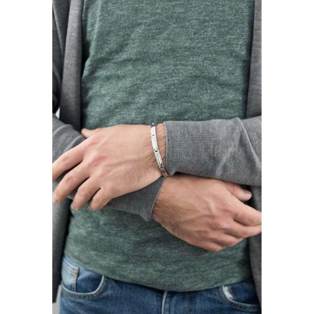 Morellato bracciali Moody uomo SQH03 indosso