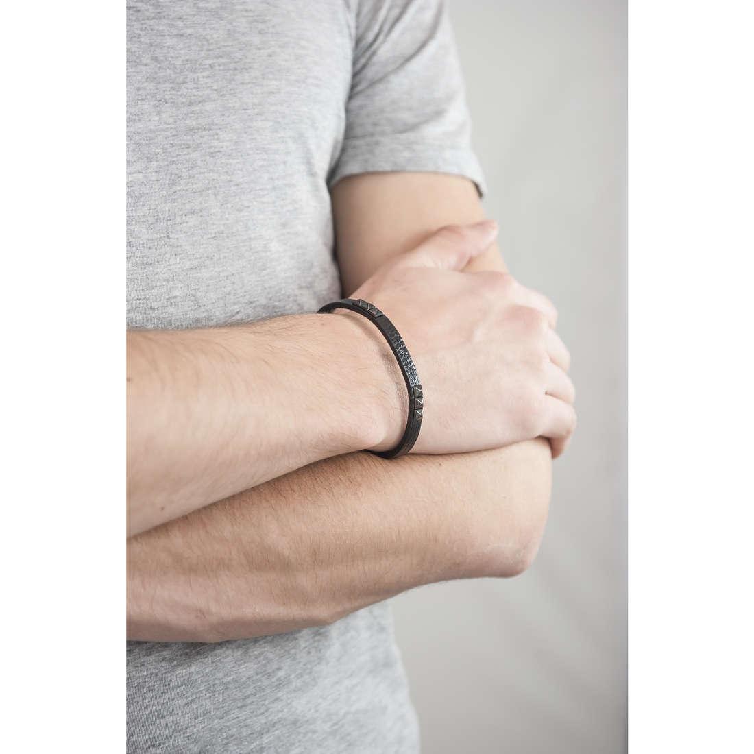 Morellato bracciali Studs uomo SADT02 indosso