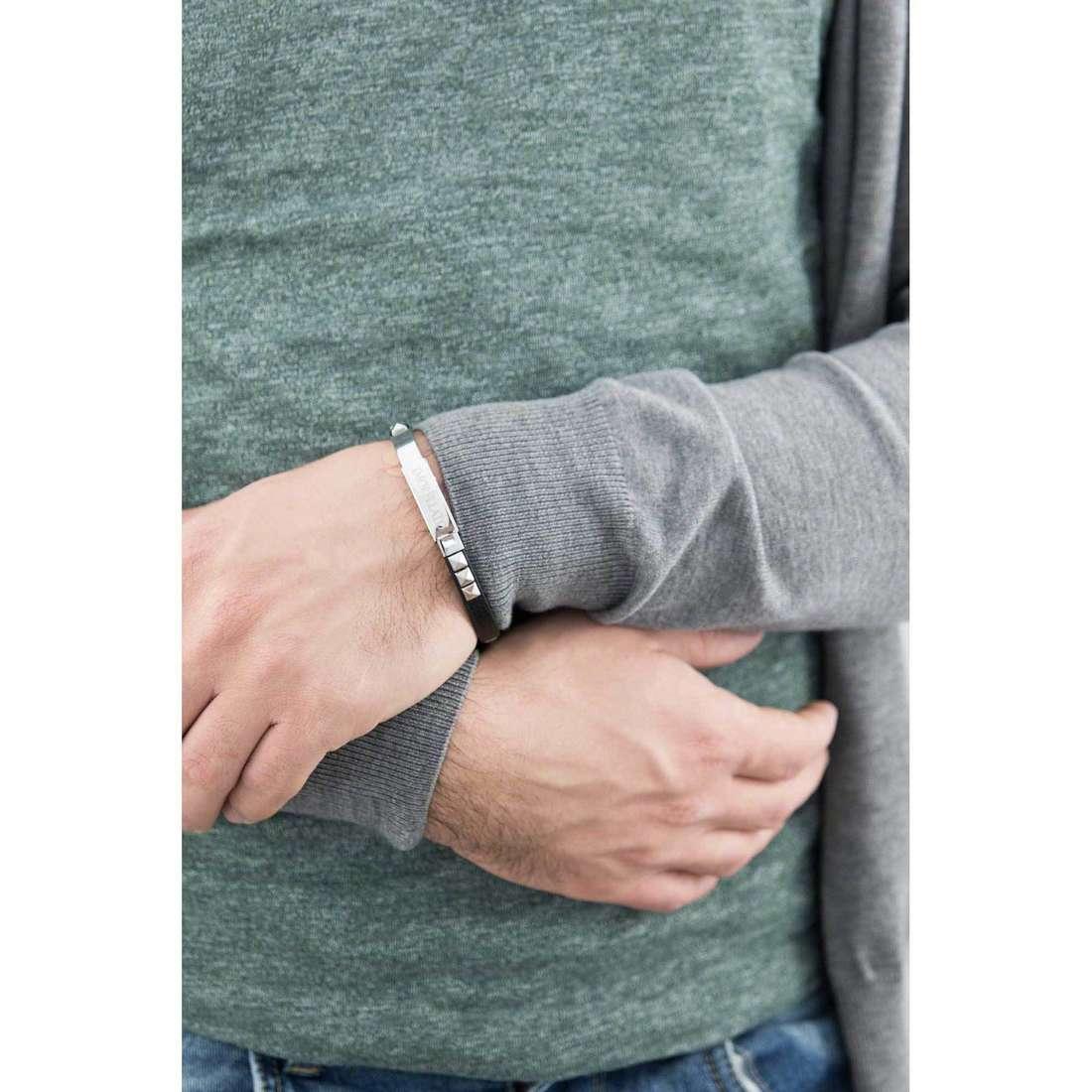 Morellato bracciali Studs uomo SADT03 indosso