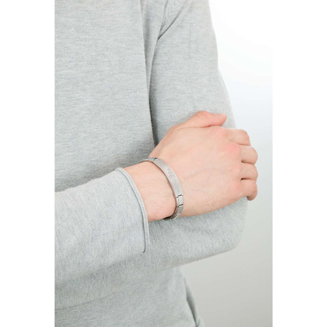 Nomination bracciali Trendsetter uomo 021108/008/003 indosso