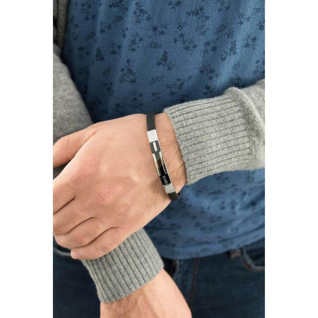 Sector bracciali Basic Soft uomo SAFB04 indosso