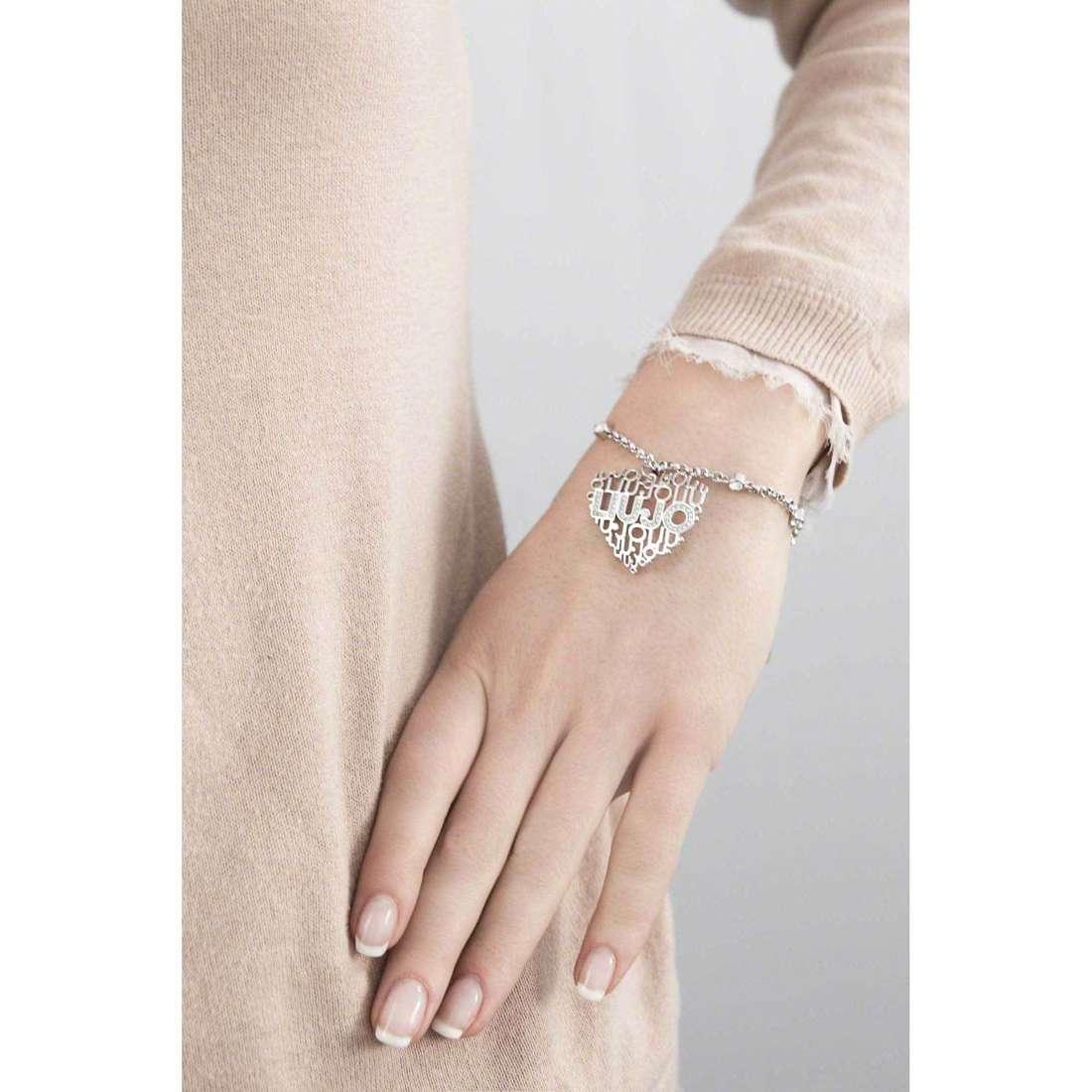 Liujo bracelets Trama femme LJ821 indosso