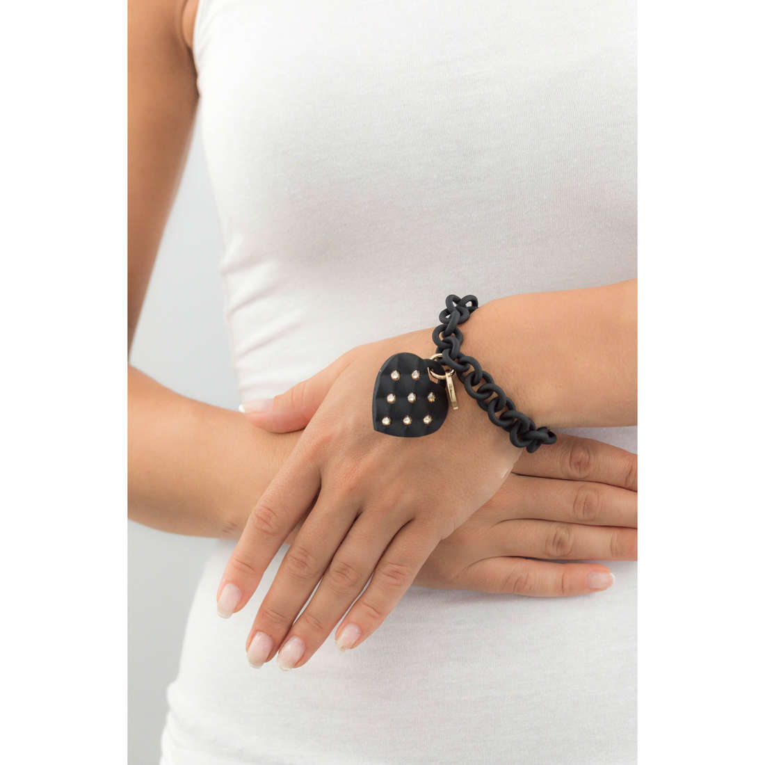 Ops Objects bracelets Matelassè Crystal femme OPSBR-235 indosso
