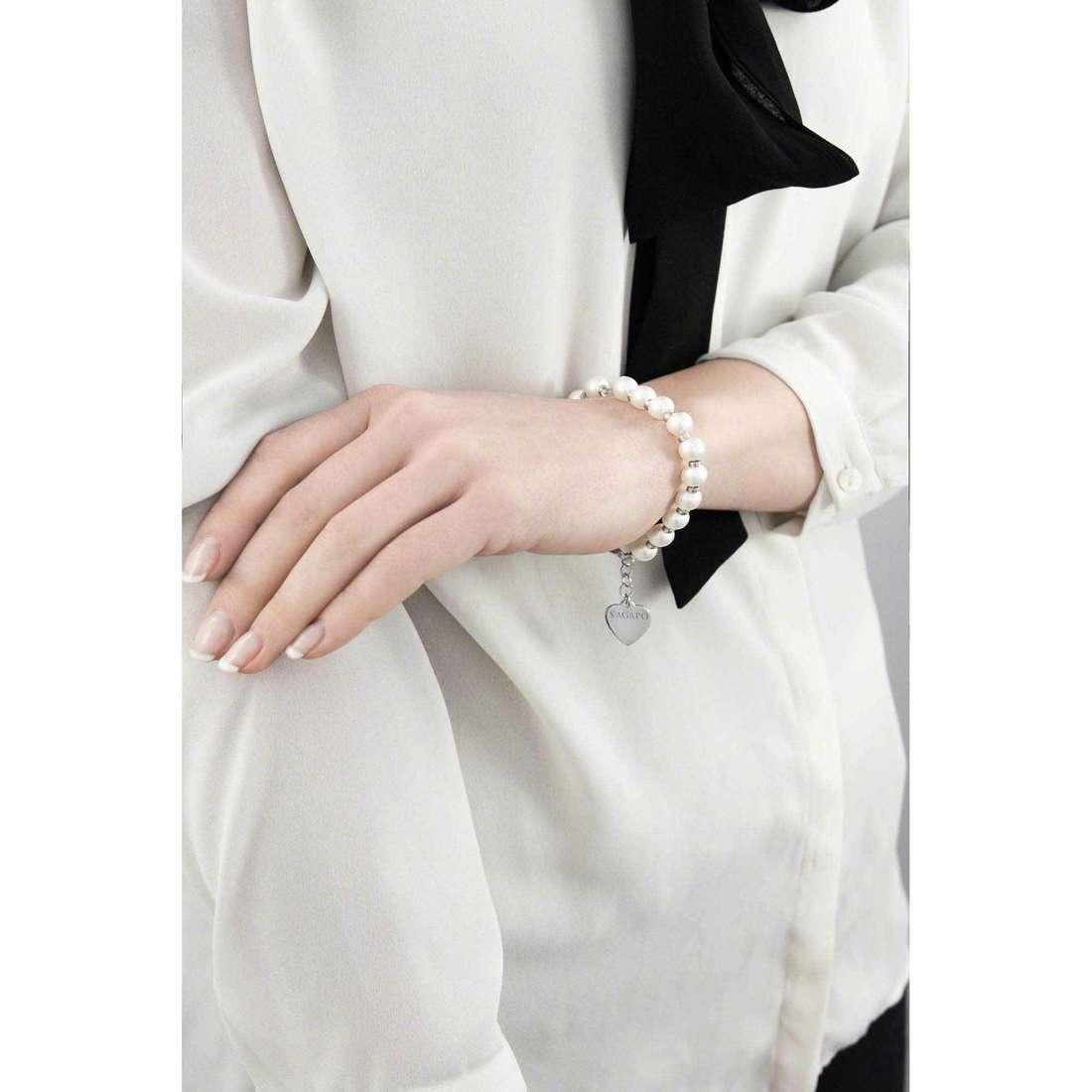Sagapò bracelets HAPPY femme SHAC4 indosso
