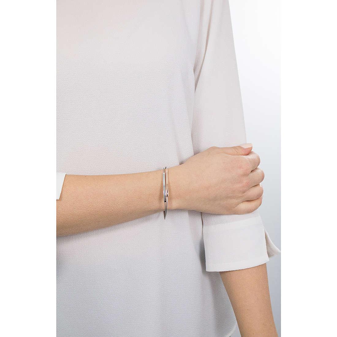 Acier Inoxydable Armspange Cœur Femmes Bracelet Acier Bijoux ASE 51j de amello