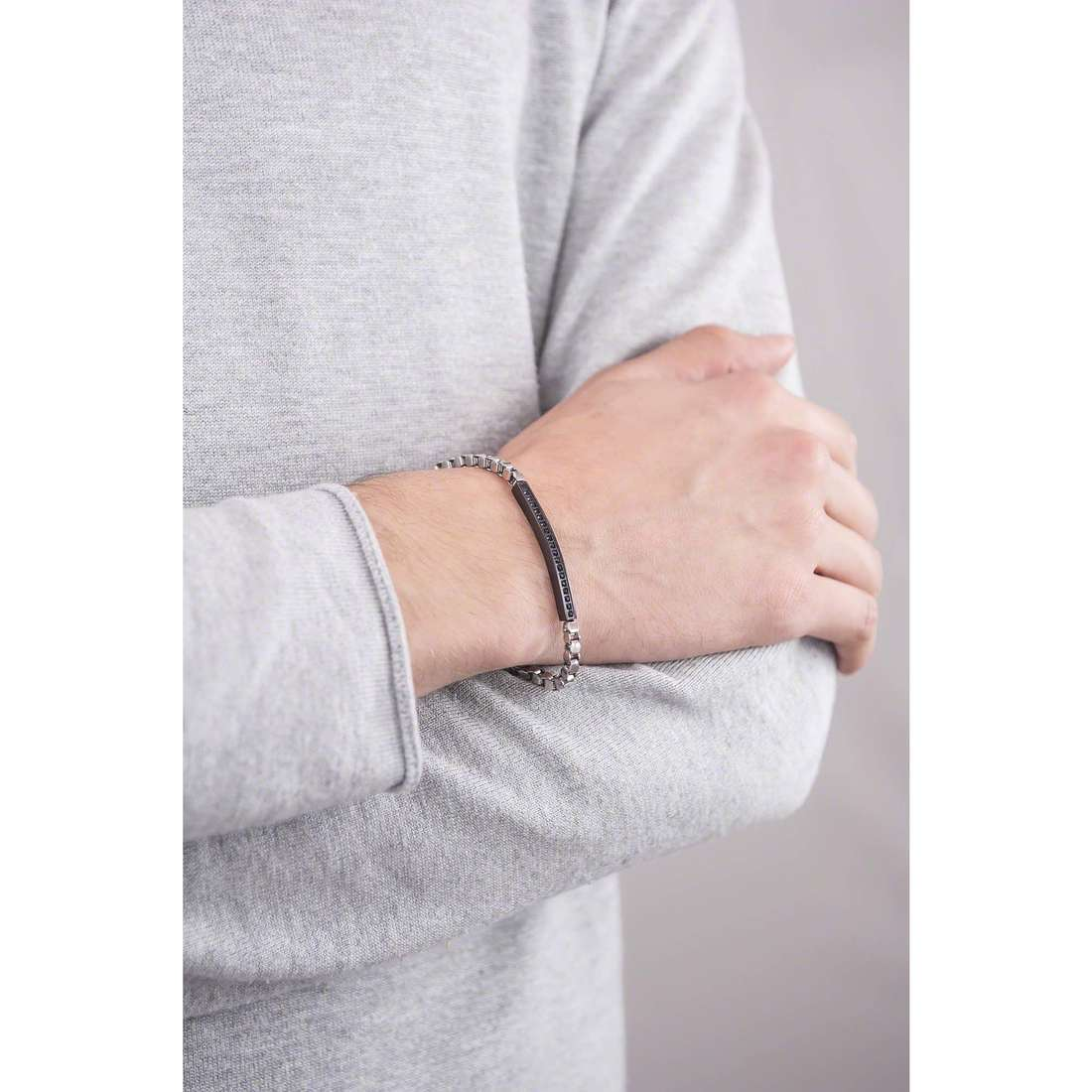 4US Cesare Paciotti bracelets Steel homme 4UBR1289 indosso