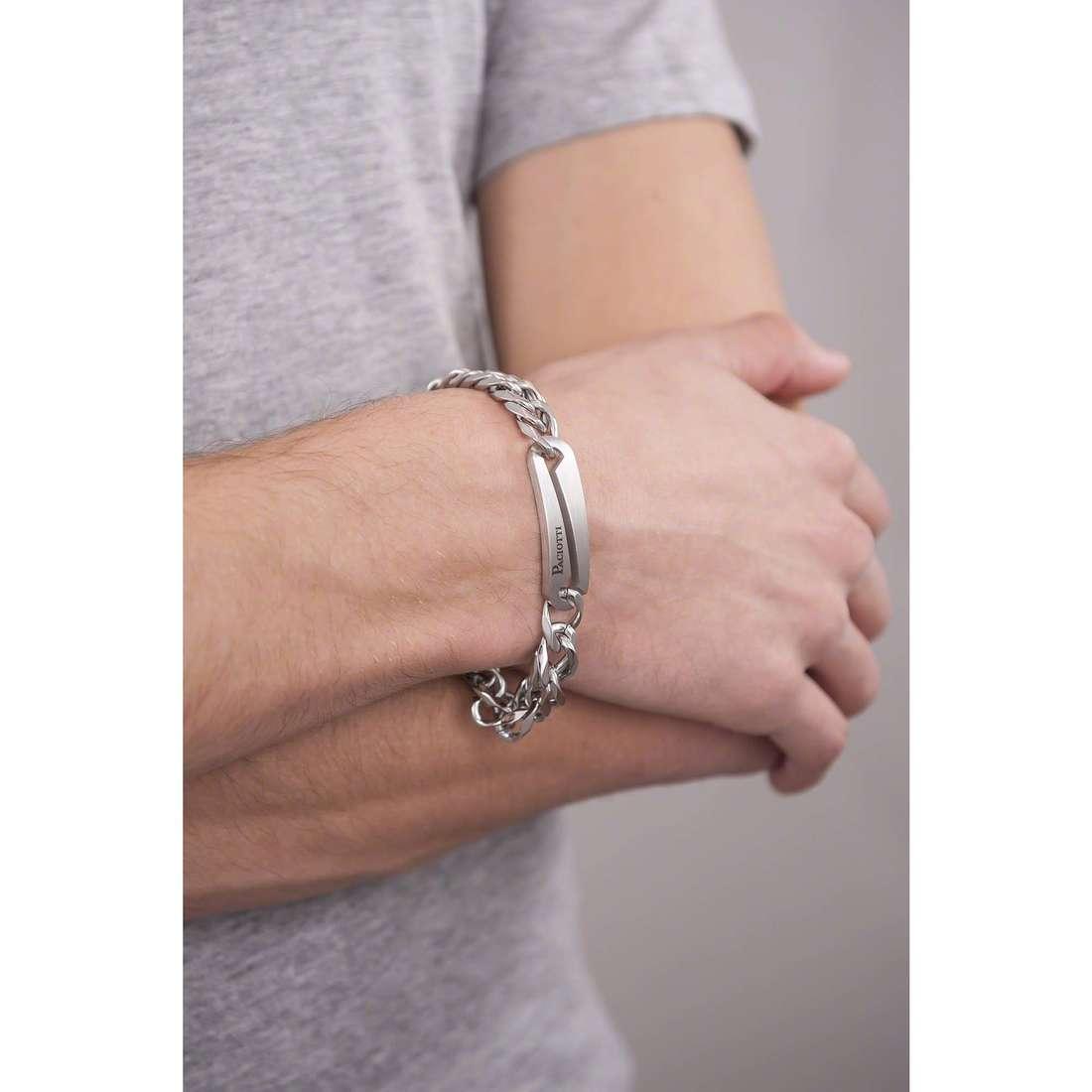 4US Cesare Paciotti bracelets Steel homme 4UBR1314 indosso