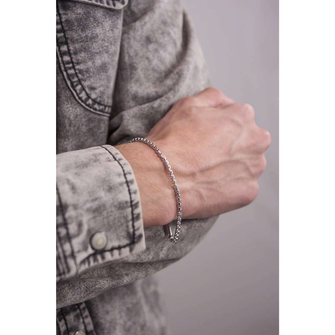 Bliss bracelets Chain homme 20055442 indosso
