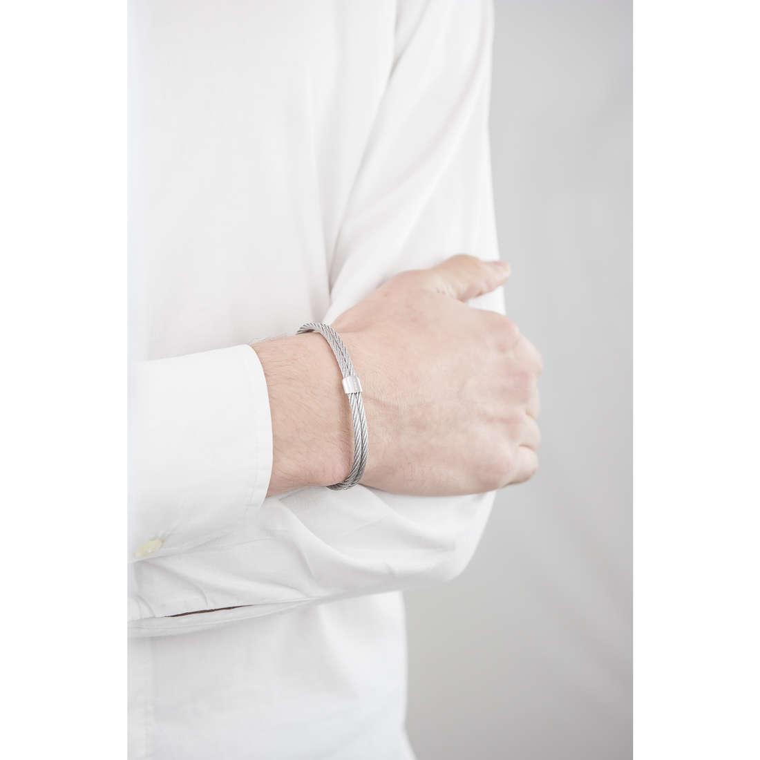 Breil bracelets Cable homme TJ1827 indosso