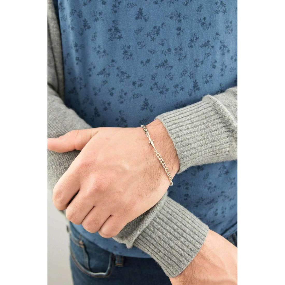 Cesare Paciotti bracelets homme JPBR0999B indosso