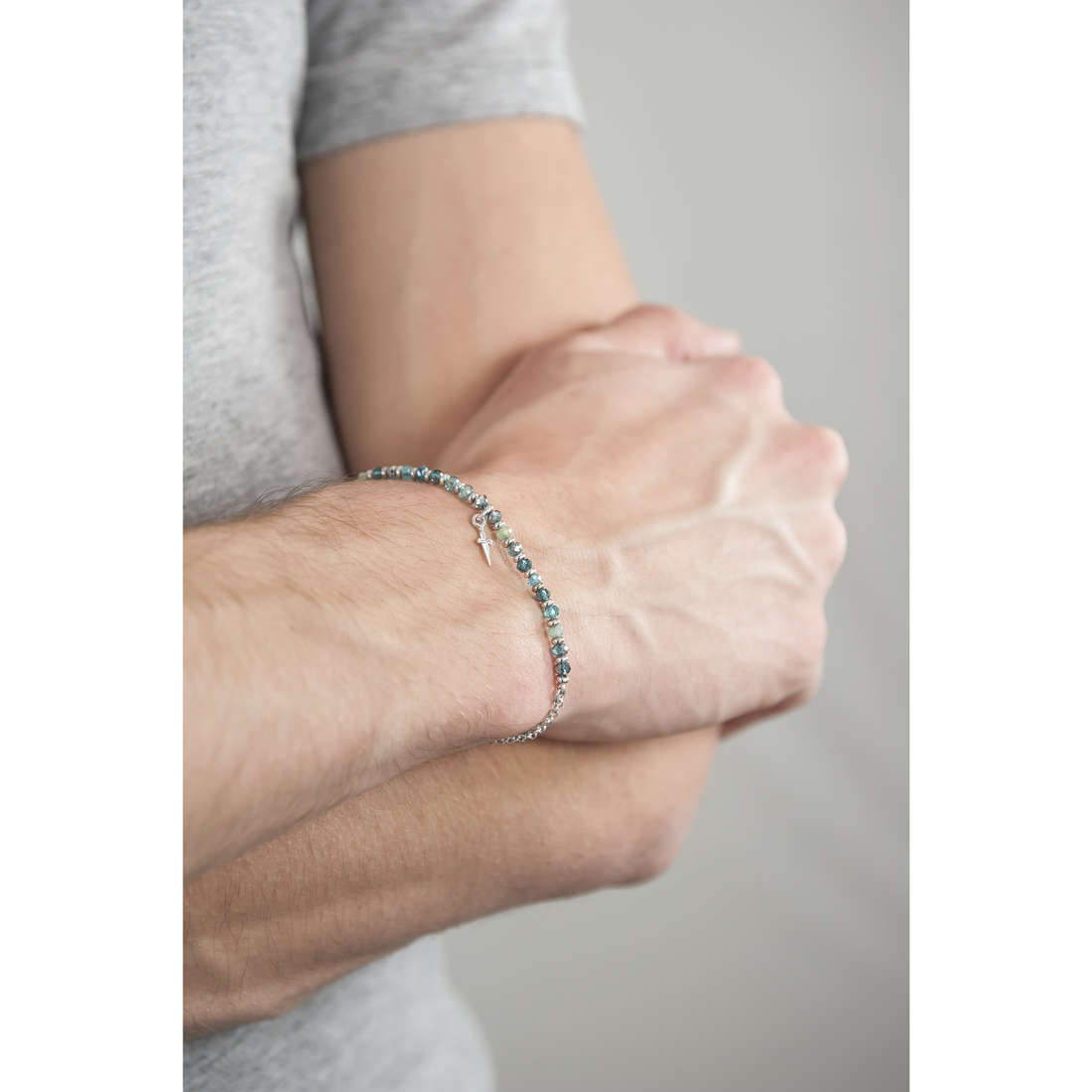 Cesare Paciotti bracelets Line homme JPBR1112B indosso