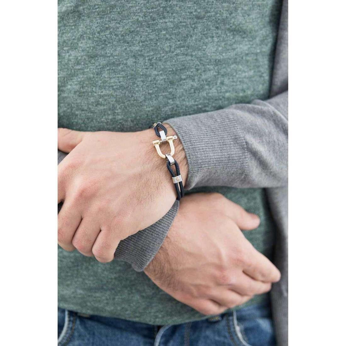 Comete bracelets Blu di Genova homme UBR 729 indosso