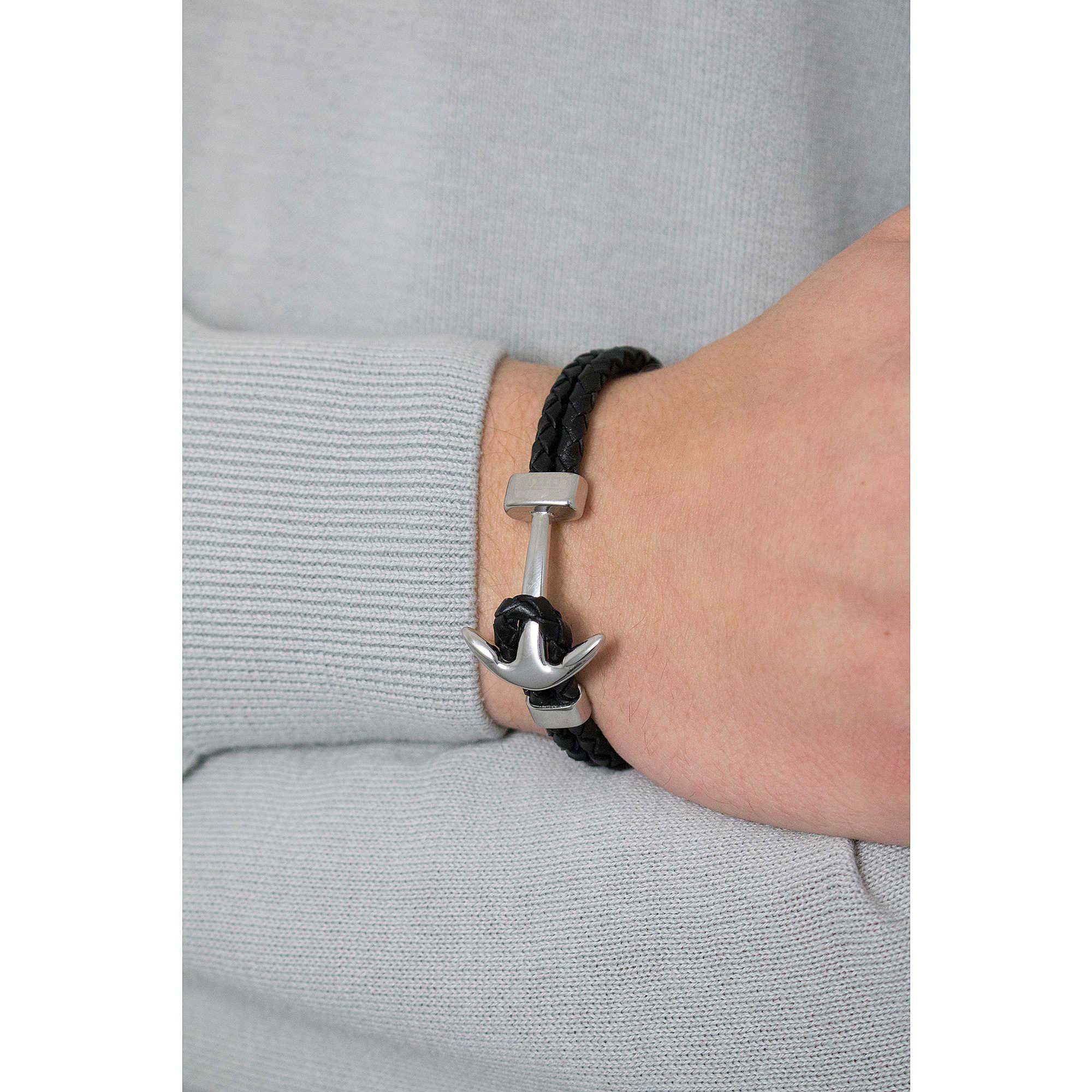 Bracelet homme ancre lotus