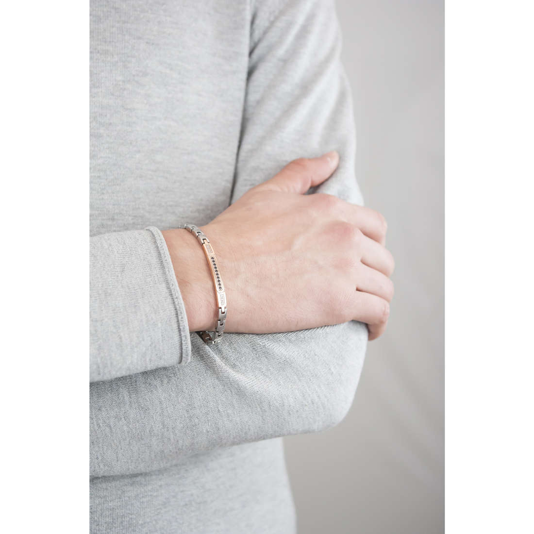 Luca Barra bracelets homme LBBA606 indosso