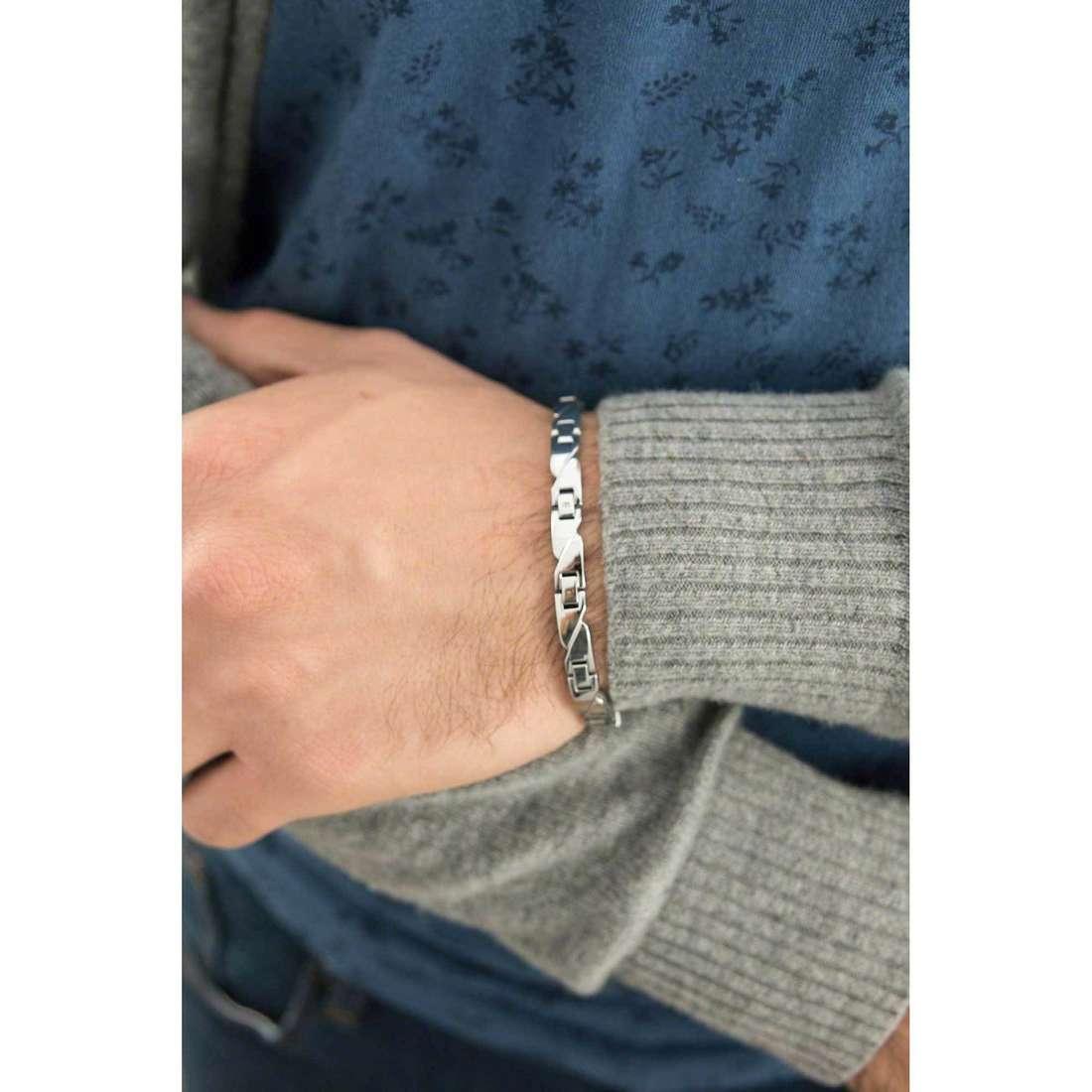 Sector bracelets Basic homme SLI59 indosso
