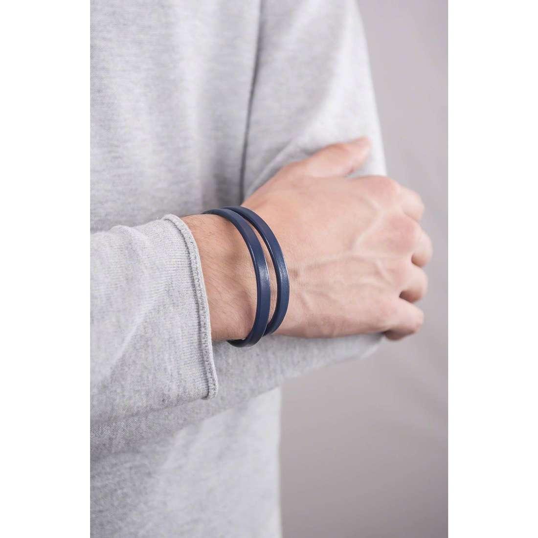4US Cesare Paciotti bracelets man 4UBR1273 indosso