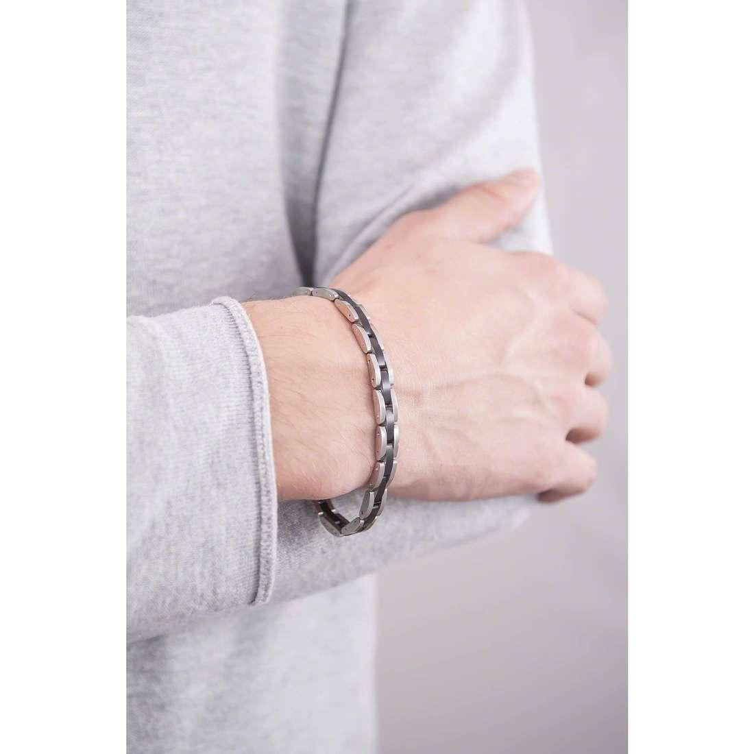 4US Cesare Paciotti bracelets man 4UBR1372 indosso