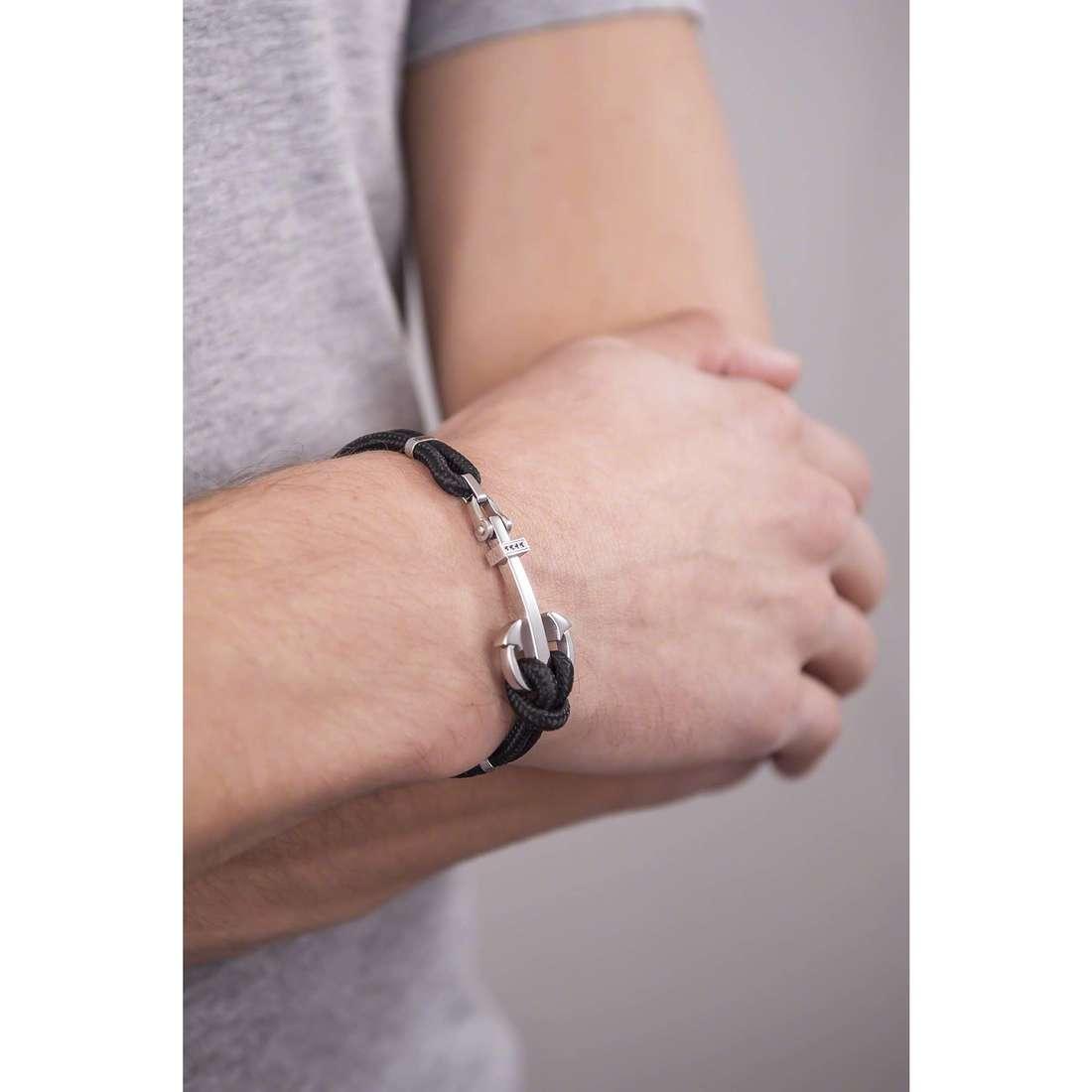 4US Cesare Paciotti bracelets man 4UBR1373 indosso
