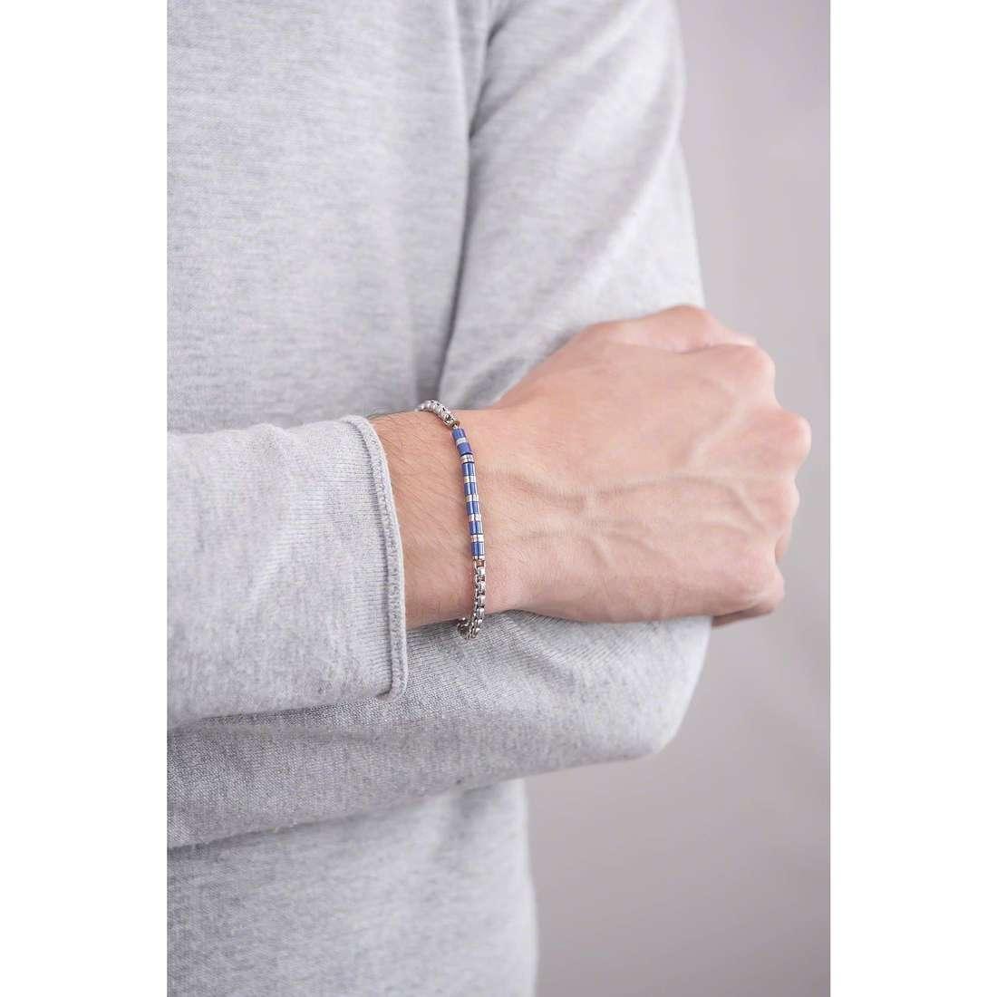 4US Cesare Paciotti bracelets Steel man 4UBR1284 indosso
