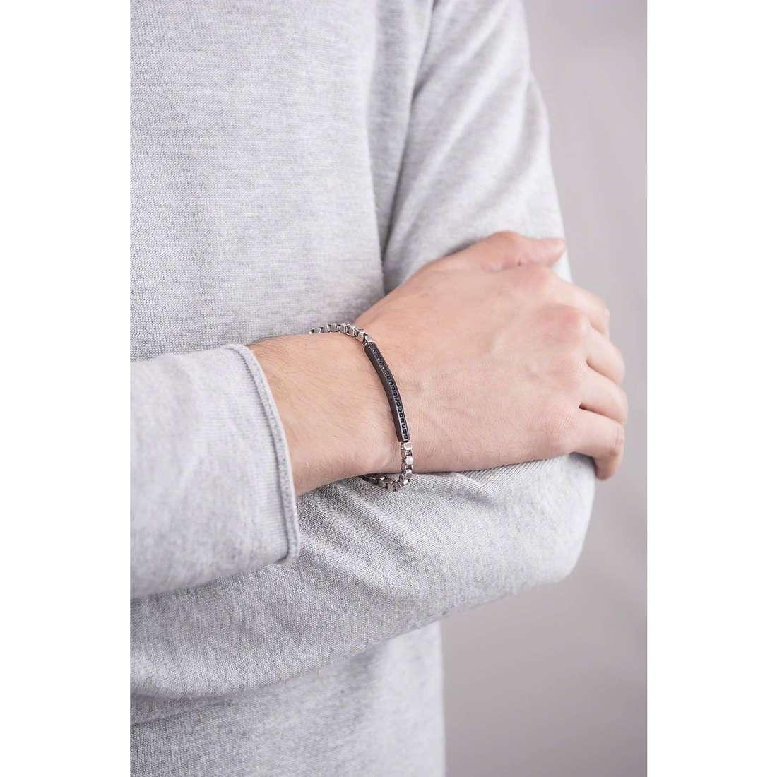 4US Cesare Paciotti bracelets Steel man 4UBR1289 indosso