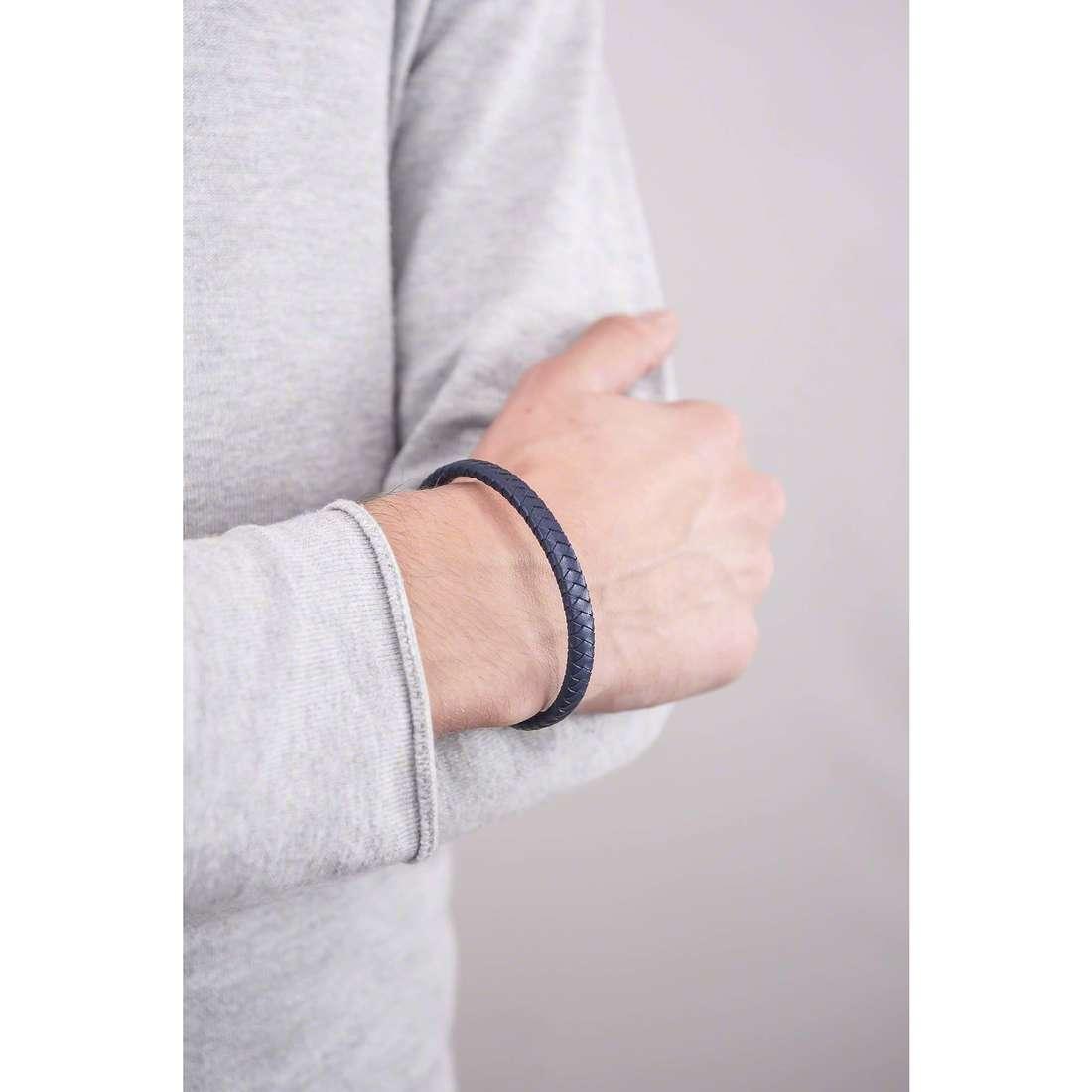 4US Cesare Paciotti bracelets Steel man 4UBR1308 indosso