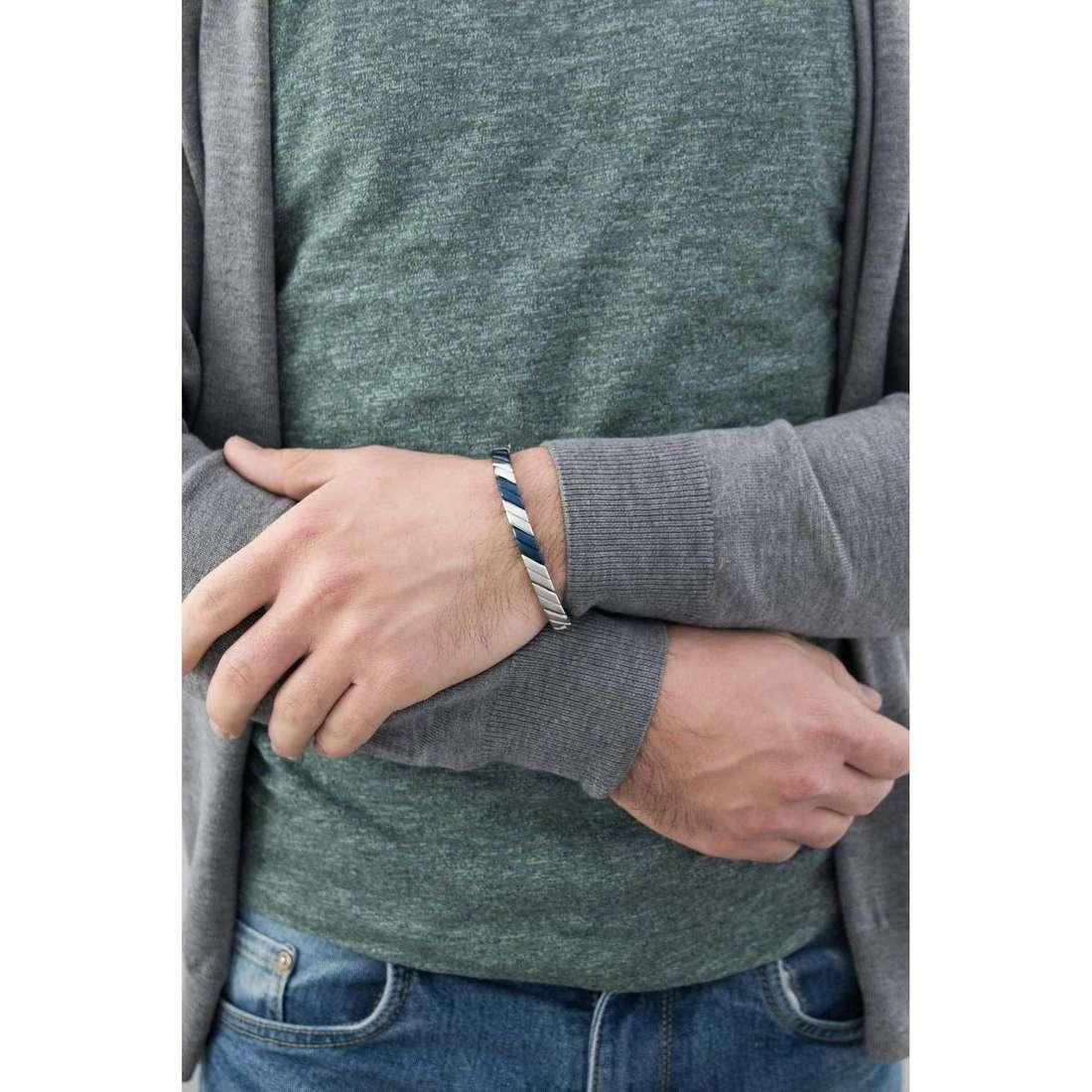 Breil bracelets Cross Cut man TJ1531 indosso