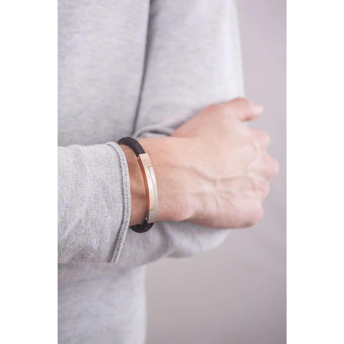 Brosway bracelets Class man BCL23P indosso