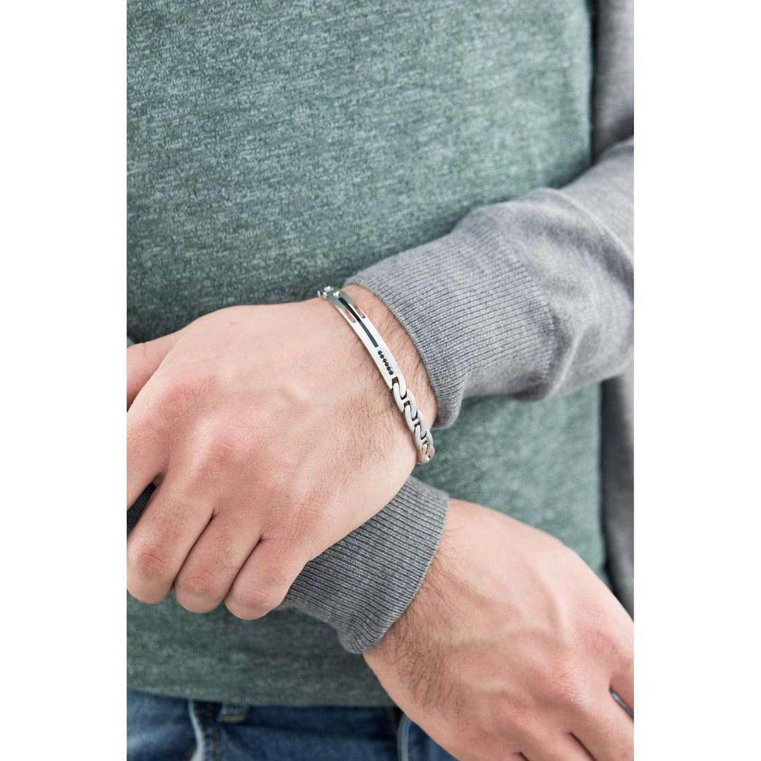 Brosway bracelets Flat chain man BFC32 indosso