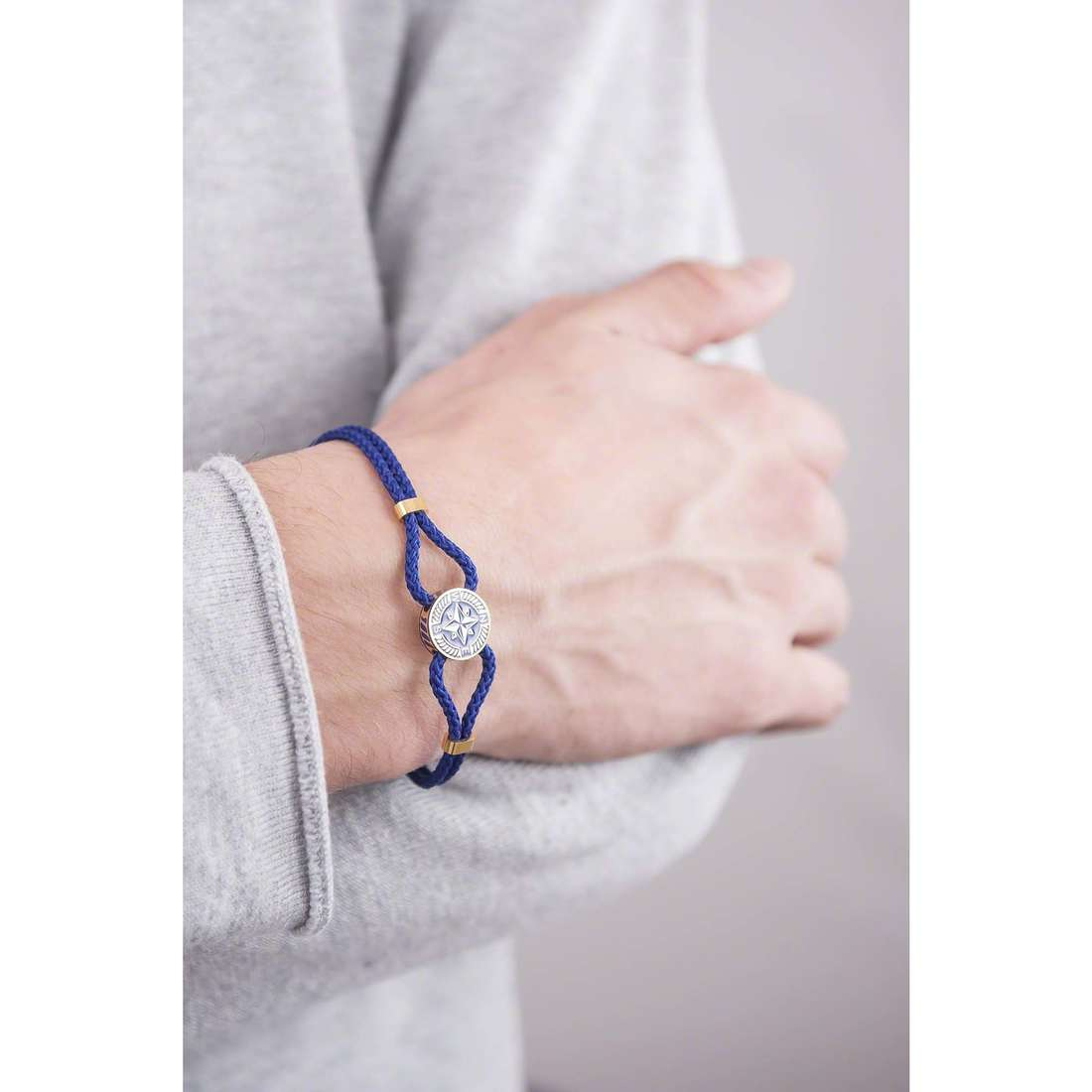 Brosway bracelets Nautilus man BNU12 indosso