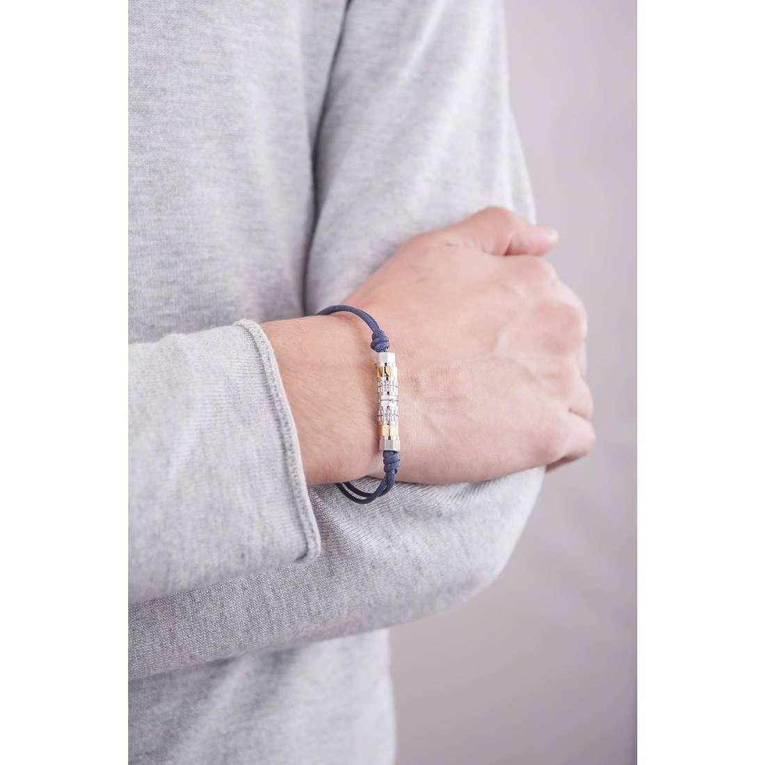 Brosway bracelets Octagons man BOC03 indosso