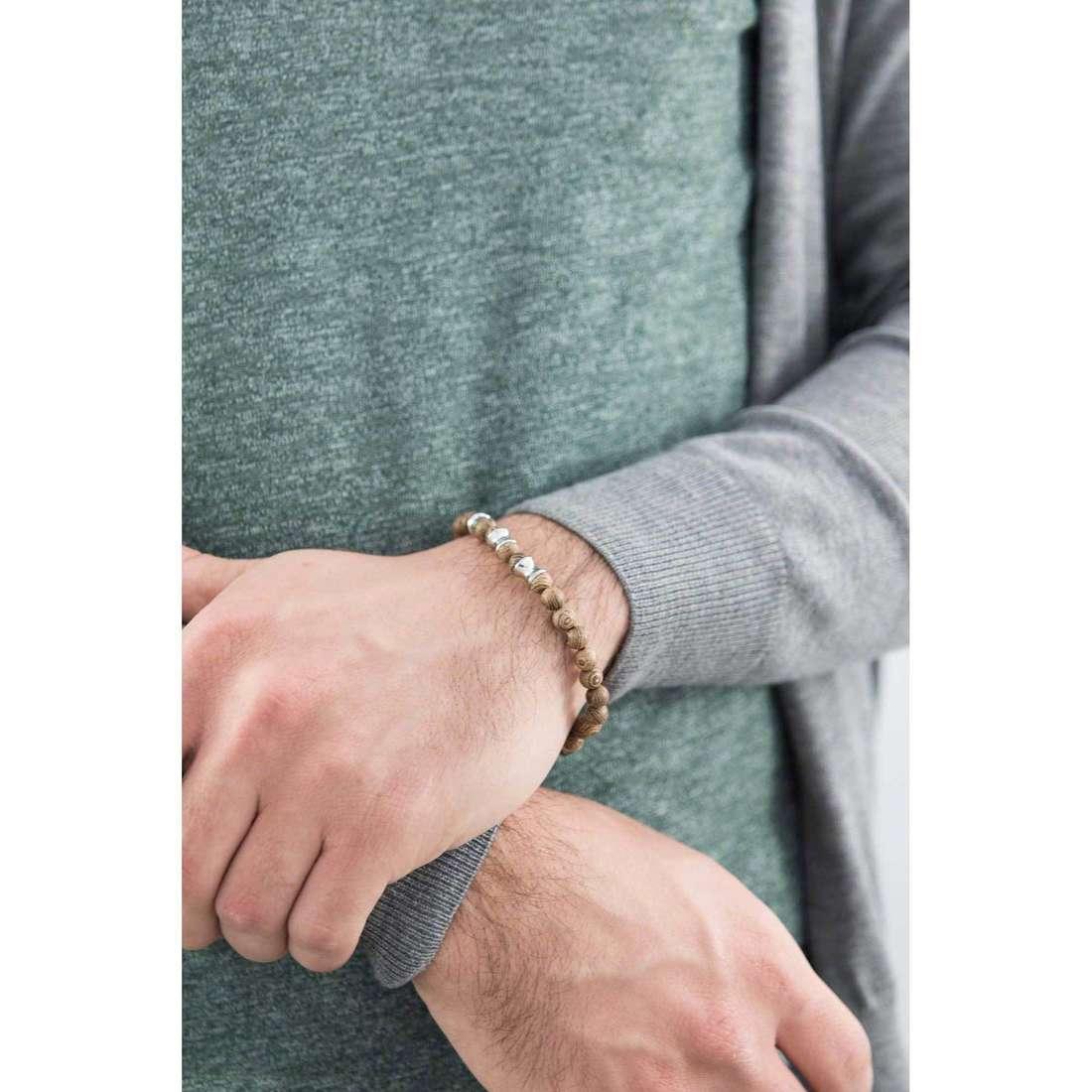 Brosway bracelets Tibet man BIB13 indosso